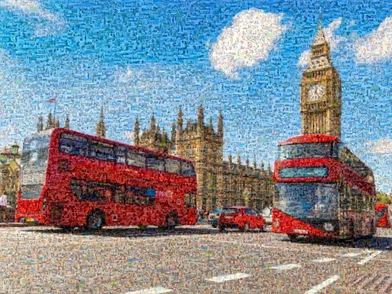 Fotomosaik BigBen London