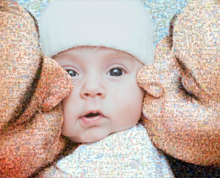 Neu als Teilmosaik mit Baby