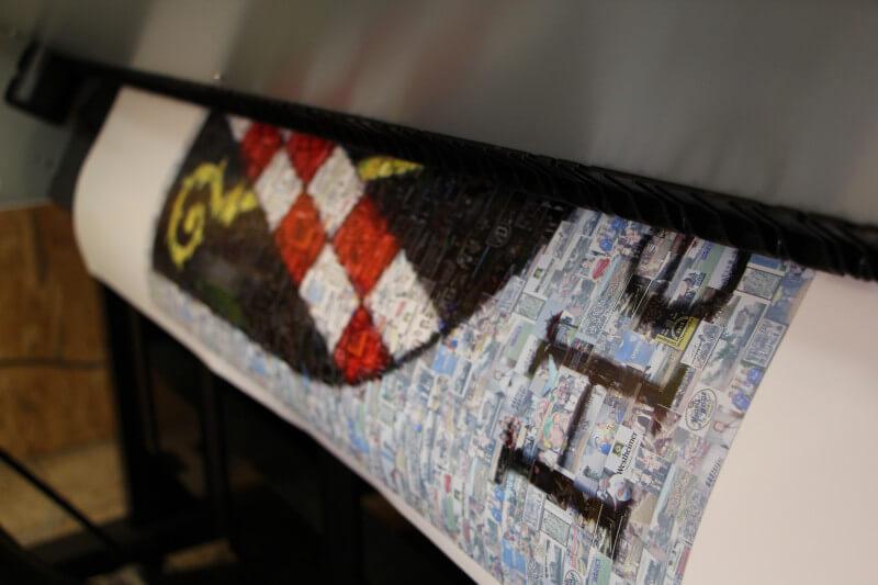 Mosaikposter wird gedruckt